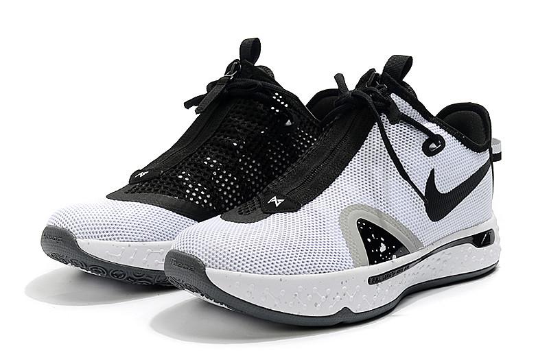 "Баскетбольные кроссовки Paul George 4 ""Black&White"" (40-46) - фото 2"