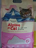 Комкующий гигиенический наполнитель Alpine Cat, sacura.5 л
