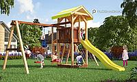 Детская площадка Савушка 7, с игровой башней, шведской стенкой, гимнастическими кольцами, горкой, фото 1
