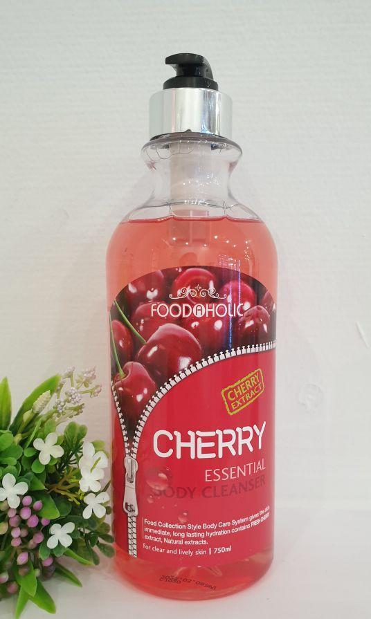 Гель для душа с экстрактом вишни FOODaHolic Cherry Essential Body Cleanser 750 ml.