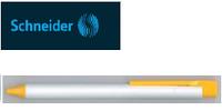 Ручка шариковая Essential белая матовая, клип и наконечник желтый