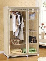 Тканевый шкаф 110х50х165 см Гардеробная вешалка для одежды.