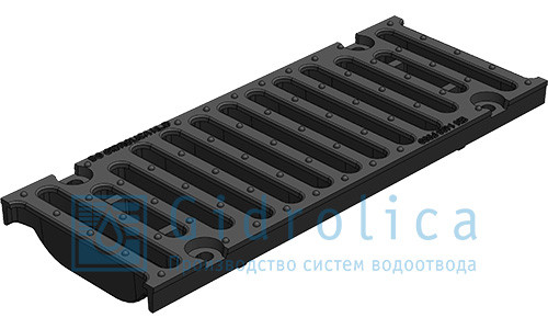 Решетка водоприемная Gidrolica Standart РВ -10.13,6.50 - щелевая чугунная ВЧ