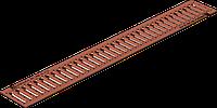 Решетка водоприемная Gidrolica Standart РВ -10.13,6.100 - штампованная медная