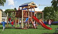 Детская площадка Савушка 16 с рукоходом, турником, качелями, сеткой для лазанья, фото 1