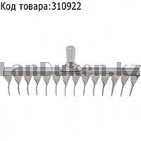 Грабли 14-зубые витые 340 мм нержавеющая сталь без черенка СИБРТЕХ 61759 (002)