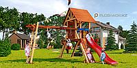Детская площадка Савушка LUX-1, рукоход, игровая башня люкс, горка, шторм-трап, крестики нолики, крыша., фото 1