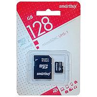 Карта памяти Smartbuy оригинал 128 ГБ 10 class. MicroSD