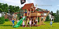 Детская площадка Савушка LUX-6, игровая башня люкс, горка, качели для двоих, капитанская площадка, песочница., фото 1