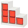 Стеллаж д/хранения игрушек ТРУФАСТ белый оранжевый ИКЕА, IKEA