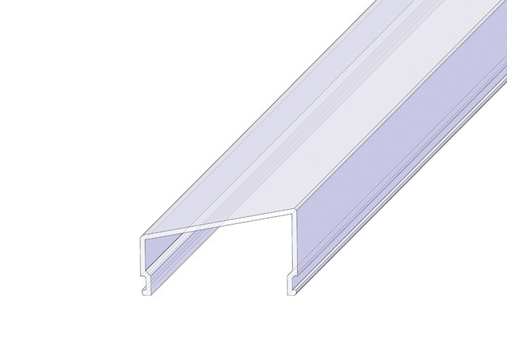РСТ Рассеиватель поликарбонатный Трапеция, длина 2м матовый