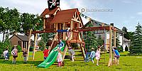 """Детская площадка Савушка LUX-10, игровая башня люкс, игровой """"чердачок"""", качели (2), рукоход, альпинис. сетка., фото 1"""