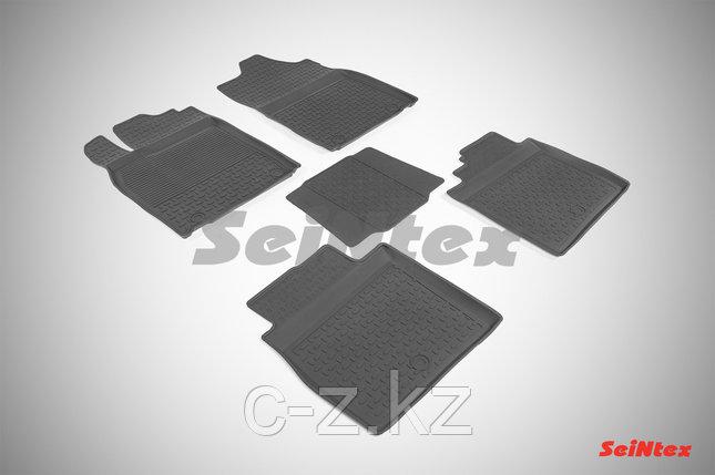 Резиновые коврики с высоким бортом для Lexus ES VI 2012-н.в., фото 2