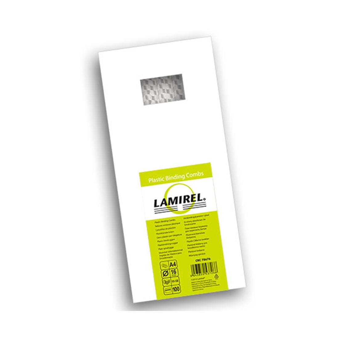 Пружина пластиковая Lamirel LA-78676 (16 мм, White, 100 шт)