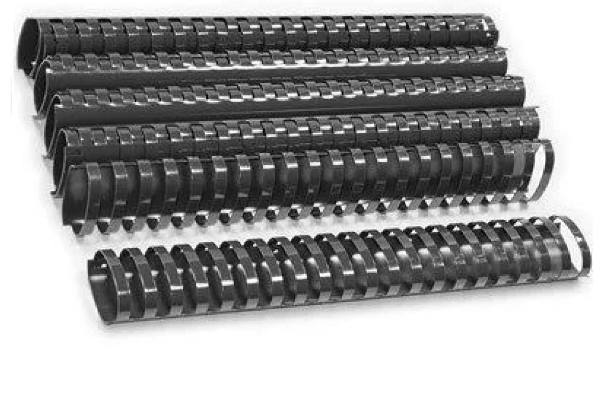 Пластиковые пружины овальные 45 ММ/440  (50 шт, Black)