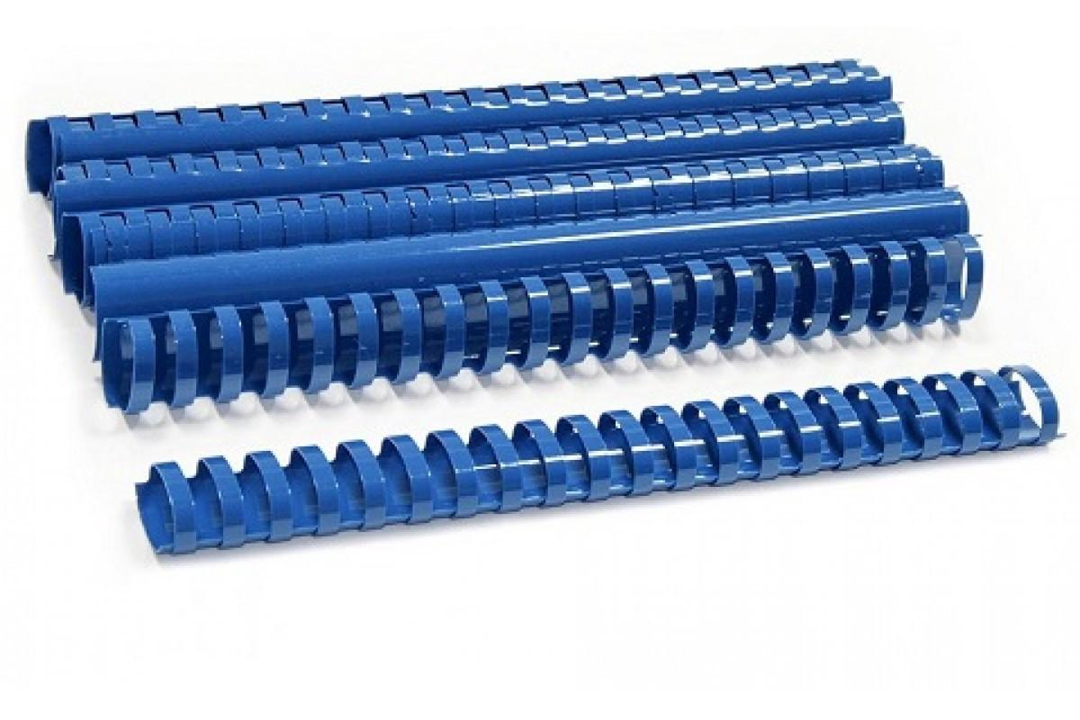 Пластиковые пружины овальные 35 ММ/330 (50 шт, Blue)