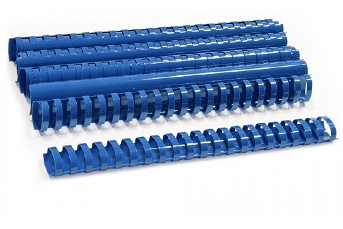 Пластиковые пружины овальные 38 ММ/360  (50 шт, Blue)
