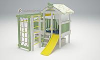 Детская площадка Савушка BABY(club) -1, игровой домик, сетка-лазалка, балкон, горка, турник,бинокль, штурвал., фото 1