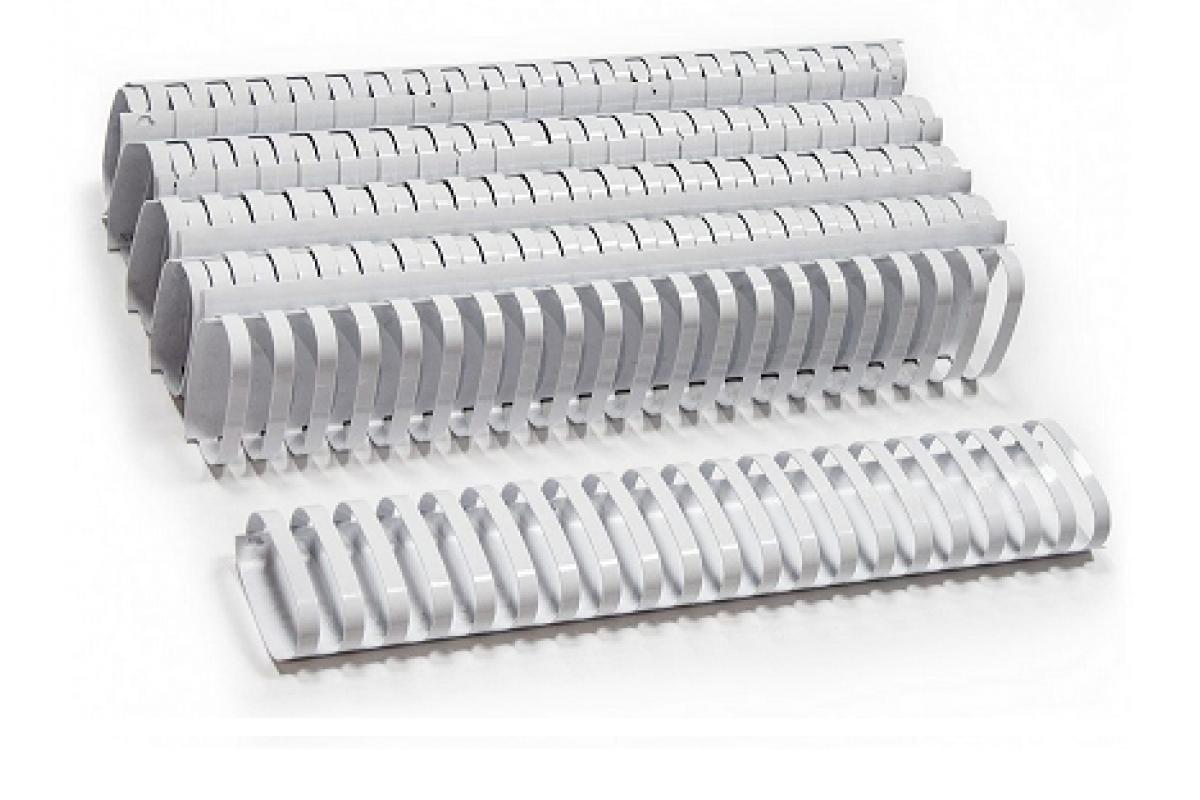Пластиковые пружины овальные 25 ММ/240  (50 шт, White)
