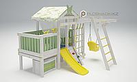 Детская площадка Савушка BABY(club) -2, рукоход, шведская стенка, игровой домик, турник, кольца гимнастич., фото 1