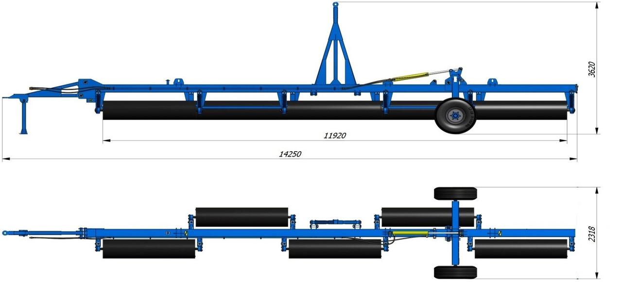 Каток водоналивной гидрофицированный КВНГ-12 480мм