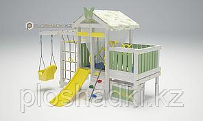 Детская площадка Савушка BABY-6,штурвал, бинокль, кольца гимнастические, швед.стенка, турник.