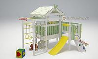 Детская площадка Савушка BABY-7, скаладром с канатом, сетка лазалка, горка, баскетбольное кольцо., фото 1