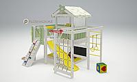 Детская площадка Савушка BABY-8, меловая доска, горка, игровой доимк с крышей, игровая зона, балкон., фото 1