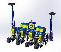 Сеялка точного высева УПС-4 (СПУ-4) с межсекционным размещением колес