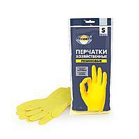 Перчатки хозяйственные, резиновые AVIORA, размер S