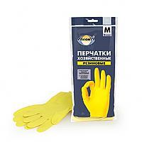Перчатки хозяйственные, резиновые AVIORA, размер M