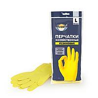 Перчатки хозяйственные, резиновые AVIORA, размер L