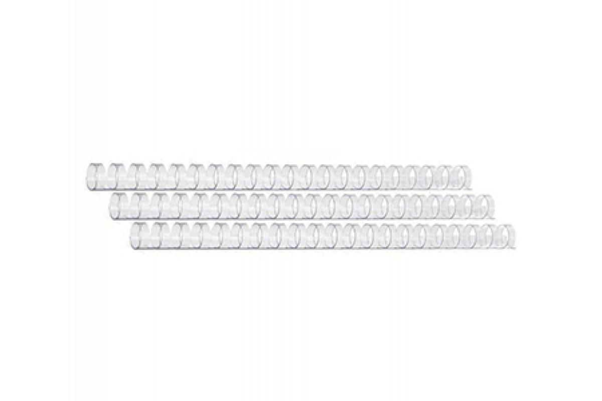 Пластиковые пружины для переплета (10 мм/65, 100 шт, Прозрачные)