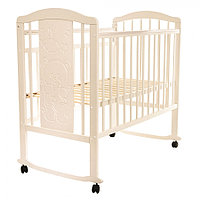 Детская кровать Pituso Noli Мишутка колесо-качалка Слоновая кость, фото 1