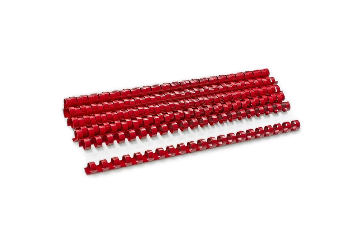 Пластиковые пружины для переплета (8 мм/45, 100 шт, Red)