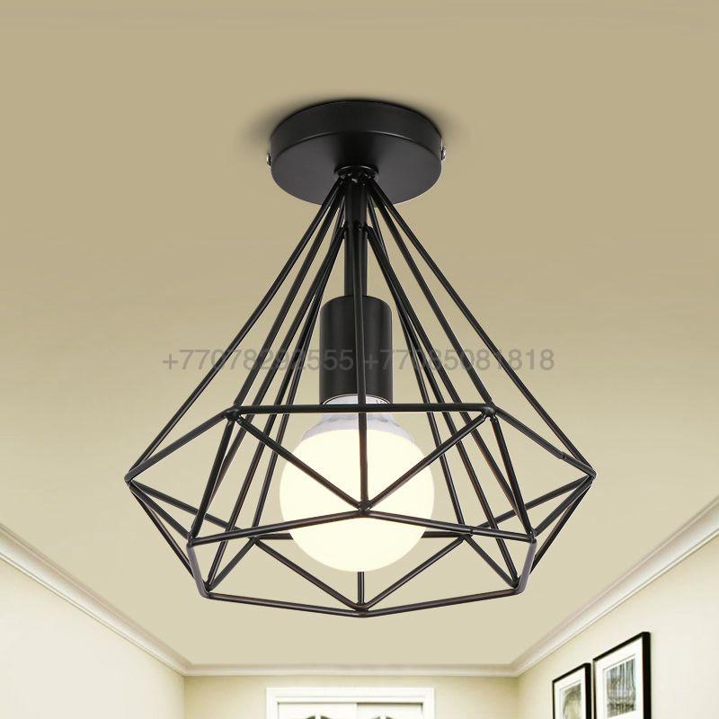Черный потолочный ЛОФТ светильник 25см
