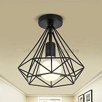 Черный потолочный ЛОФТ светильник 25см, фото 1