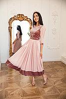 Платье АЖАР пудровое