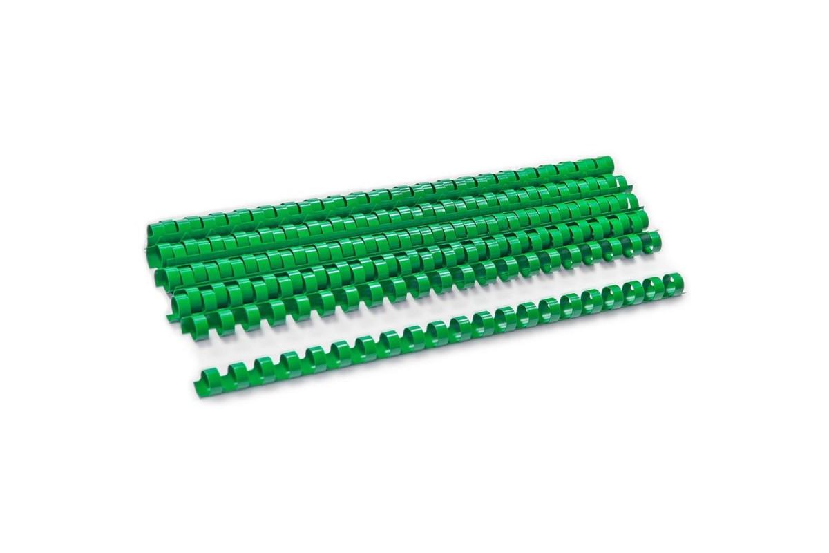 Пластиковые пружины для переплета (6 мм/25, 100 шт, Green)