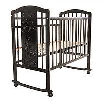 Детская кровать Pituso Noli Жирафик колесо-качалка Венге, фото 1