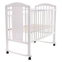 Детская кровать Pituso Noli Мишутка колесо-качалка Белый, фото 1