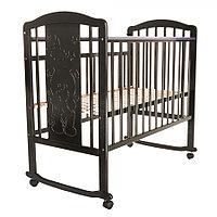 Детская кровать Pituso Noli Мишутка колесо-качалка Венге, фото 1
