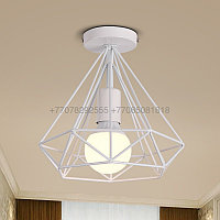 Белый потолочный ЛОФТ светильник 25см