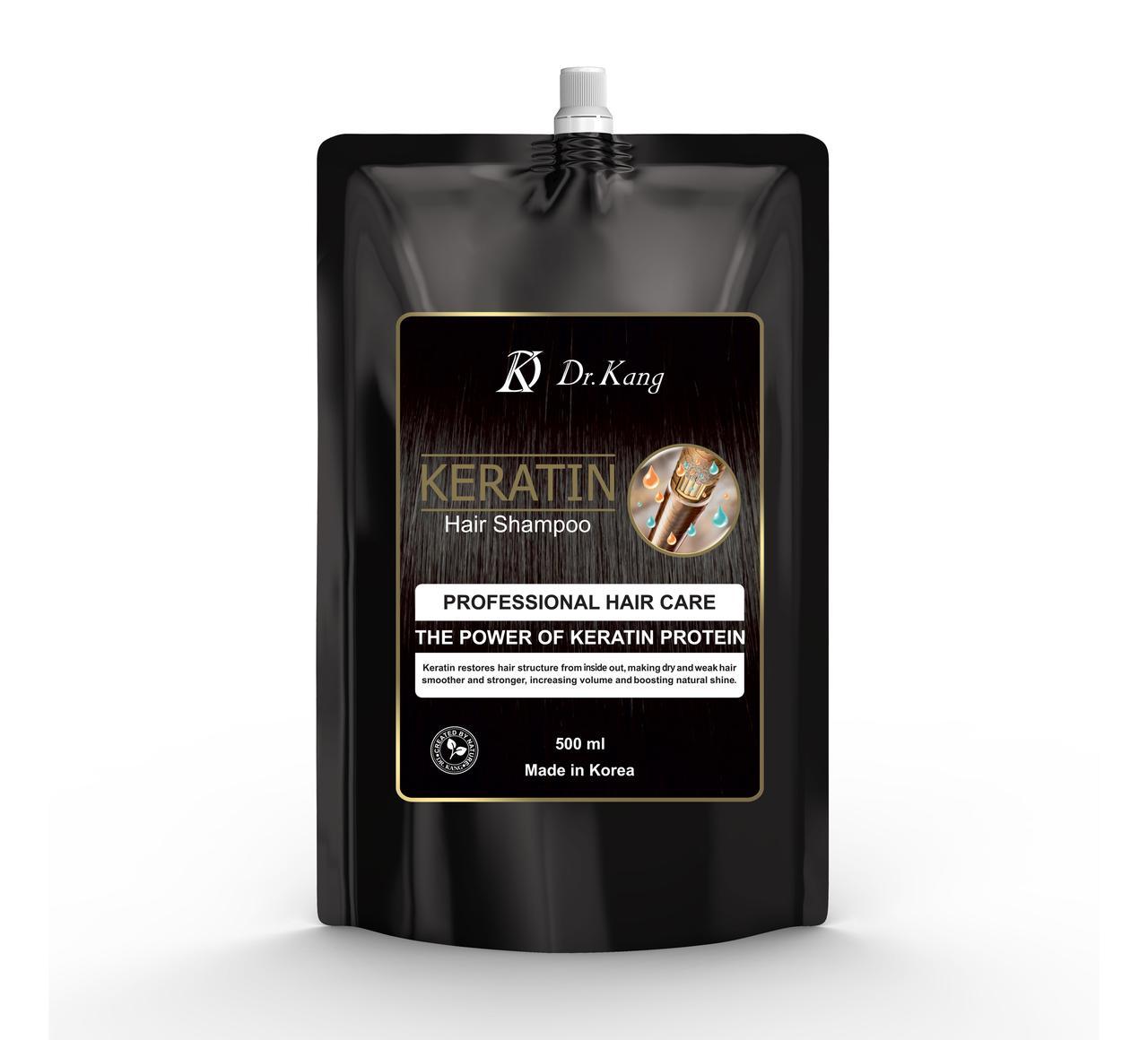 DR. KANG KERATIN PROFESSIONAL HAIR SHAMPOO – Профессиональный шампунь с Кератином 500мл