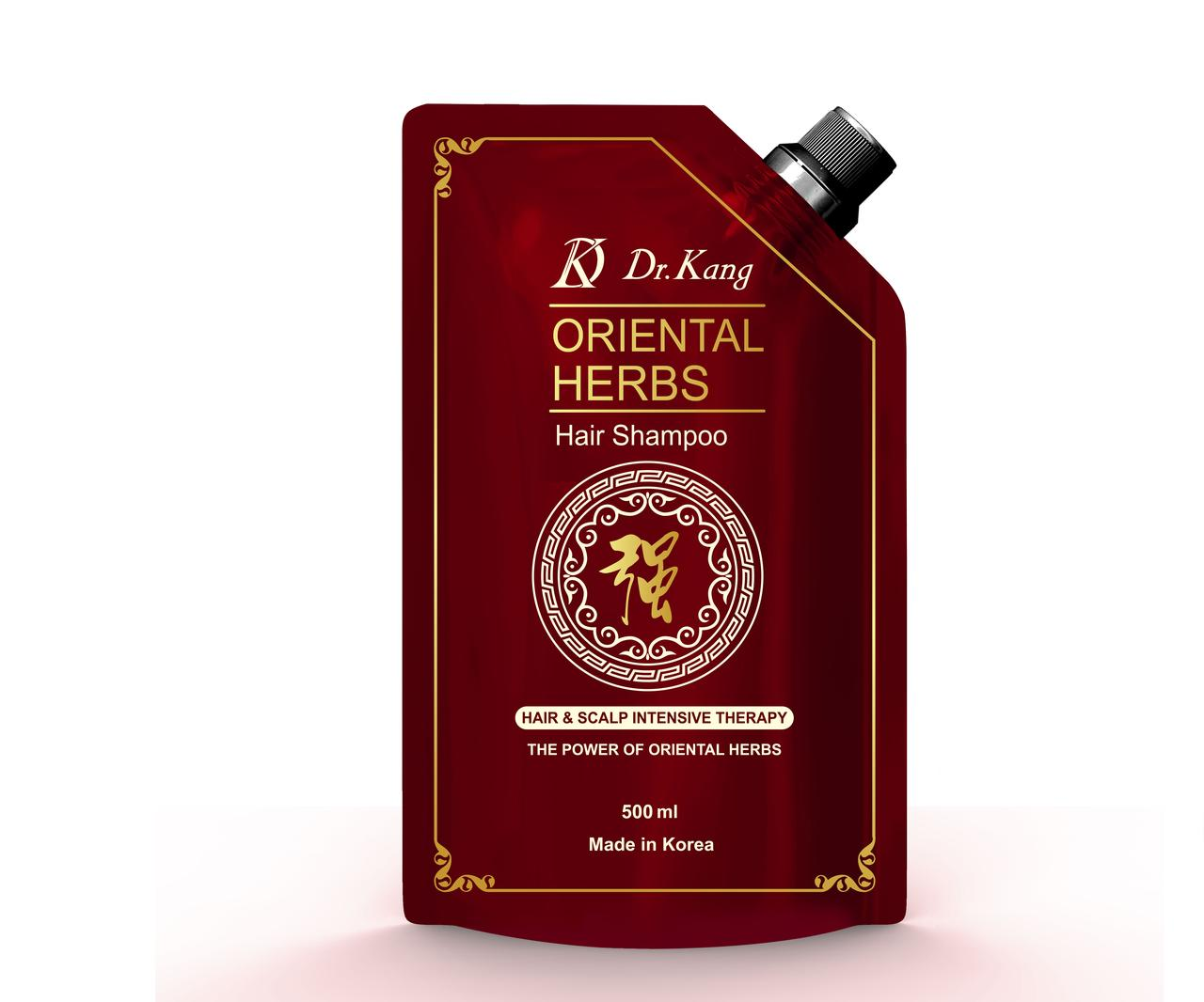 Dr.Kang Шампунь для интенсивного оздоровления волос и кожи головы Oriental Herbs Hair Shampoo 500мл.