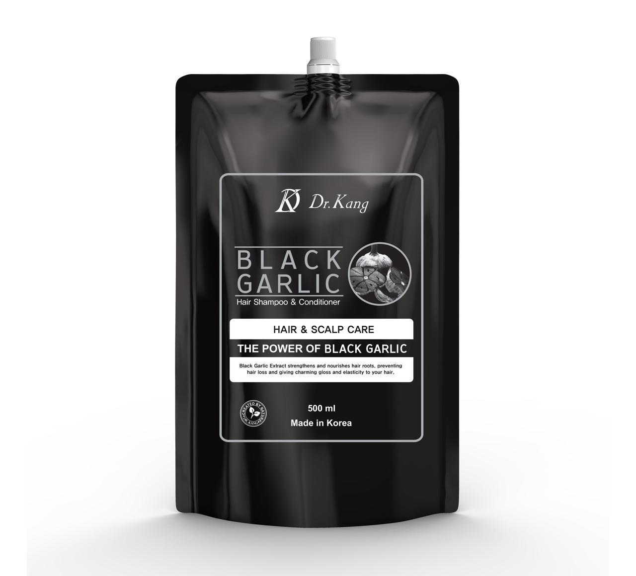 Dr.Kang Шампунь и Кондиционер 2 в 1 с черным чесноком Black Garlic Professional Hair Care / 500 мл.