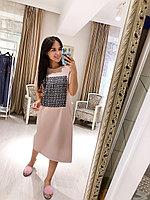 Платье туника домашнее розовое