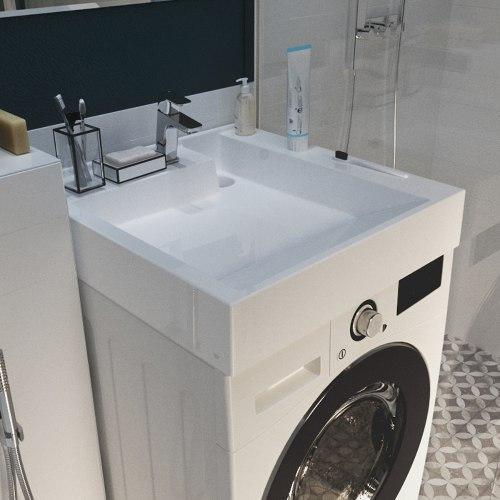 Раковина над стиральной машиной Milo 600 х 600 х 115 мм. (POLYTITAN)