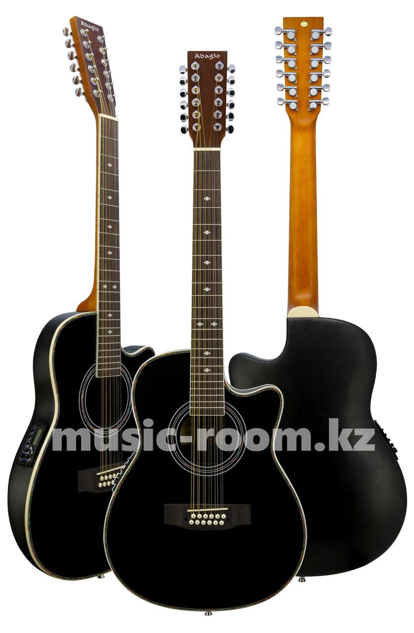 Гитара электроакустическая 12-тиструнная  Adagio MDR-4112 BK