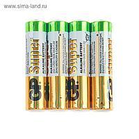 Батарейка алкалиновая GP Super, AAA, LR03-4S, 1.5В, спайка, 4 шт.